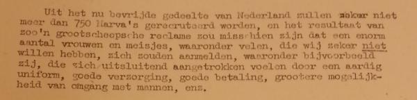 Voorlichtingsbrochure MARVA, 16 december 1944 Bron: Archief van het Ministerie van Marine: Collectie Marine Vrouwenafdeling 1944-1974, Nationaal Archief.